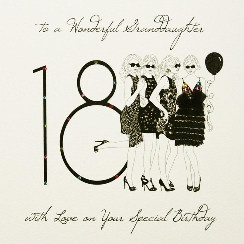 to a wonderful granddaughter large handmade 18th birthday card sl14