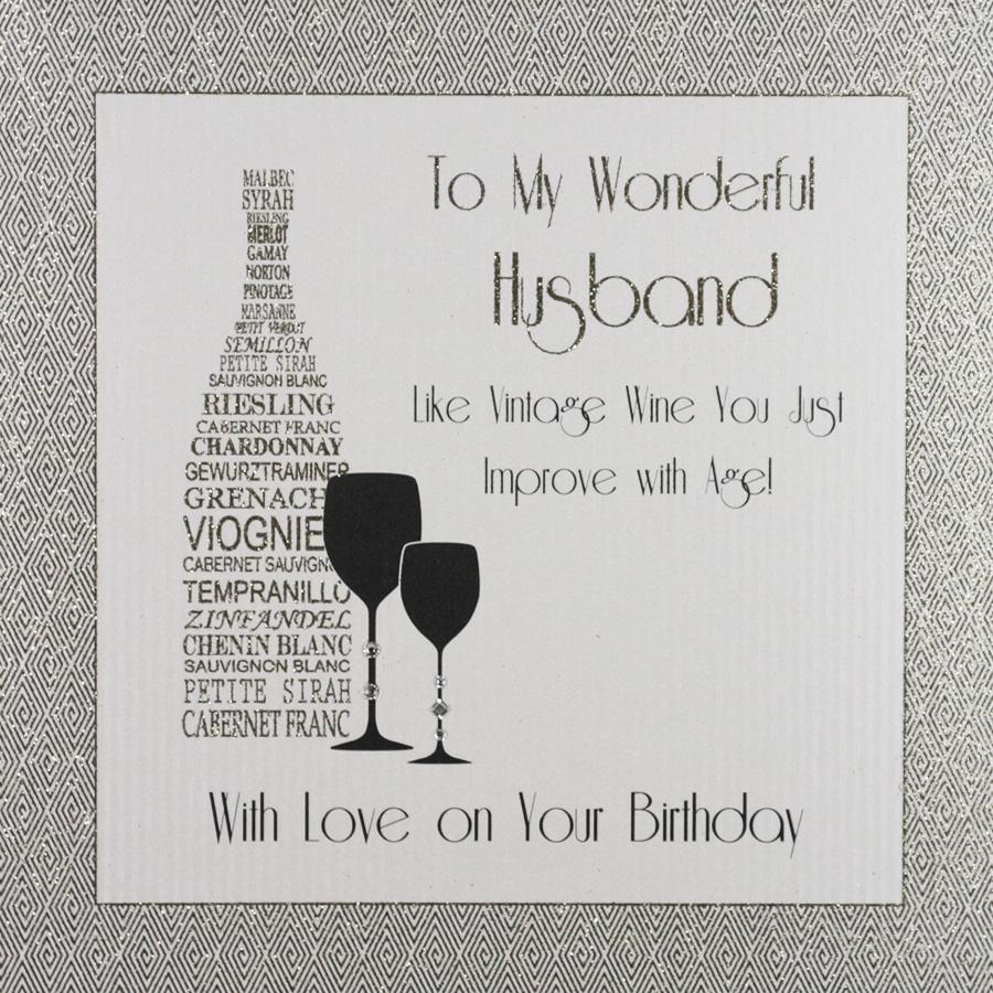 to my wonderful husband large handmade birthday card ga26