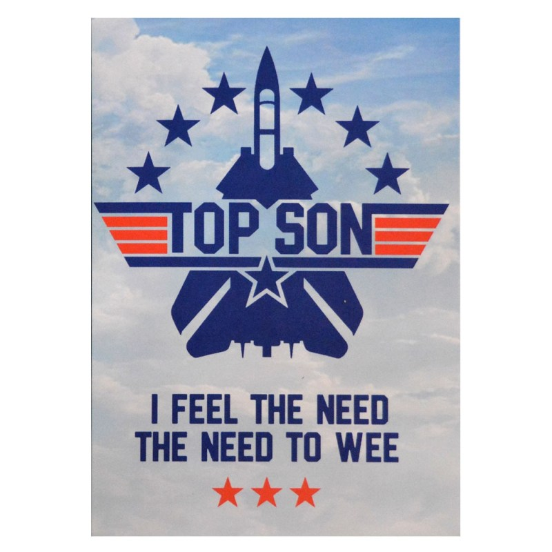 top gun funny slogan boys card nippaz with attitude