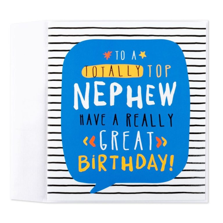 totally top birthday card for nephew