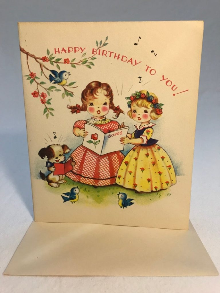 unused vintage birthday card made in the usa greeting cards