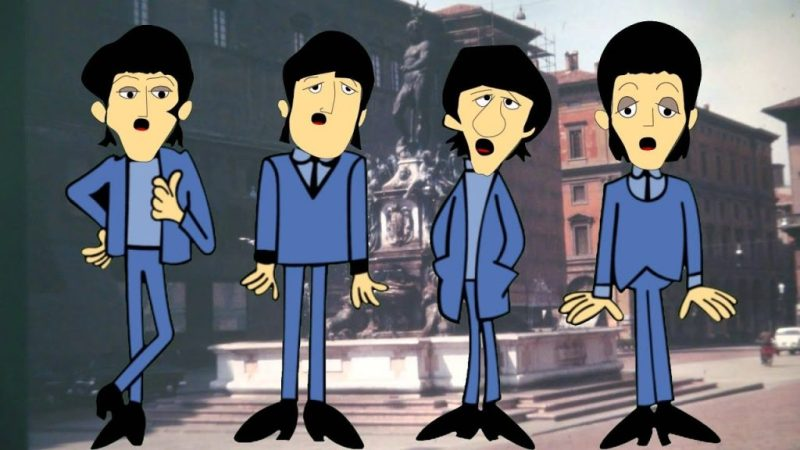 when im 64 cartoon beatles