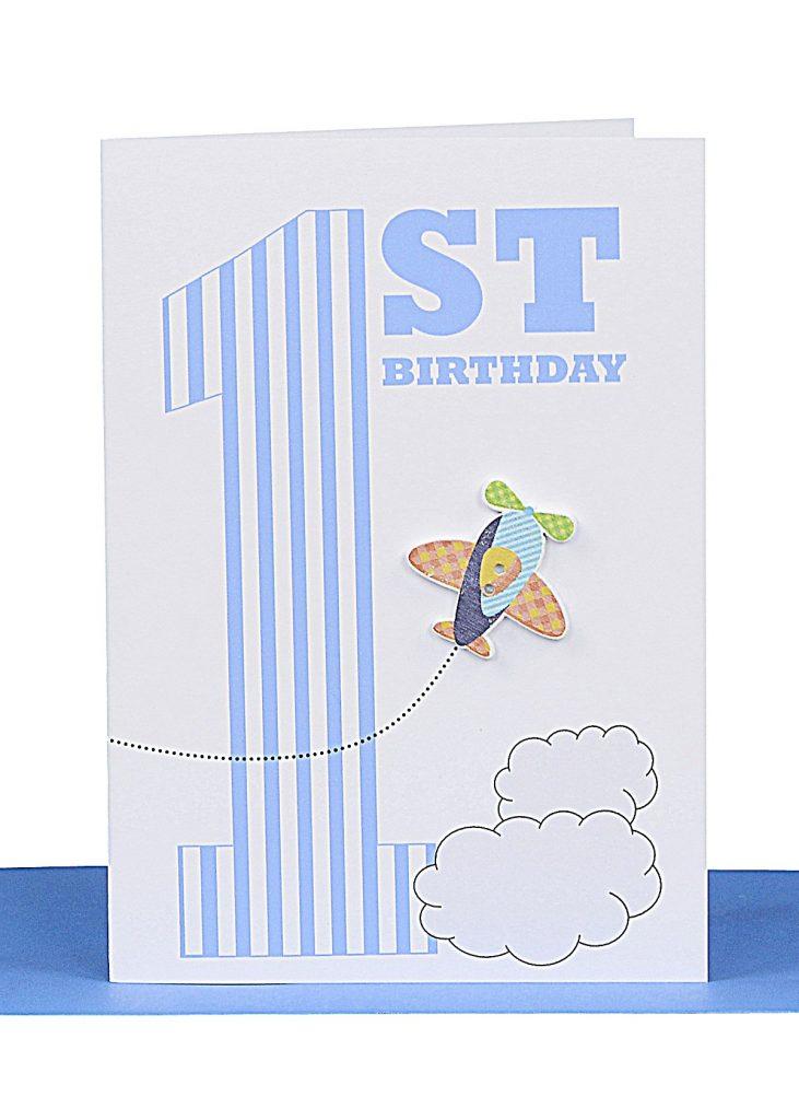 wholesale 1st birthday greeting card aeroplane lbb 039