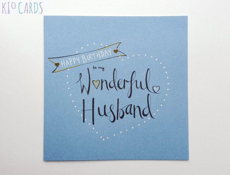 wonderful husband birthday card birthday cards for men