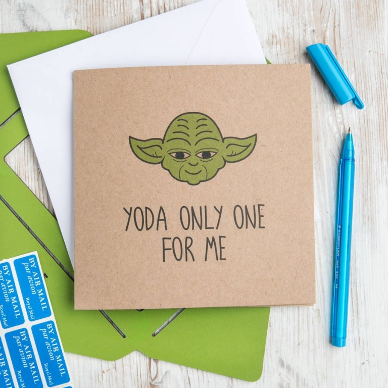 yoda only one for me star wars birthday card