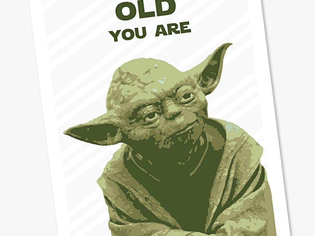 yoda star wars birthday card star wars card star wars fans yoda