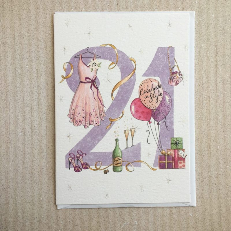 21st birthday card greeting card 127mm x 178mm 5