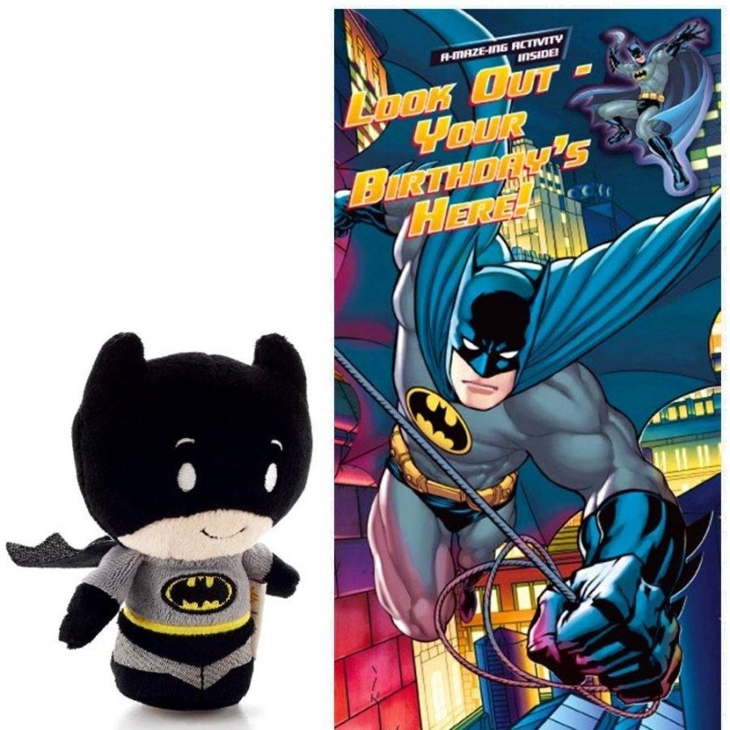 batman look out your birthdays here card toy
