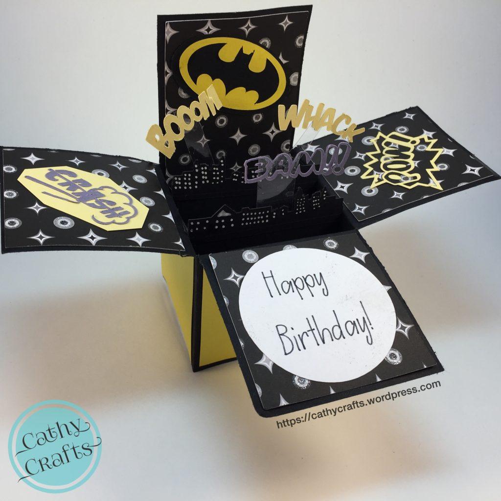 batman pop up box card cathy crafts