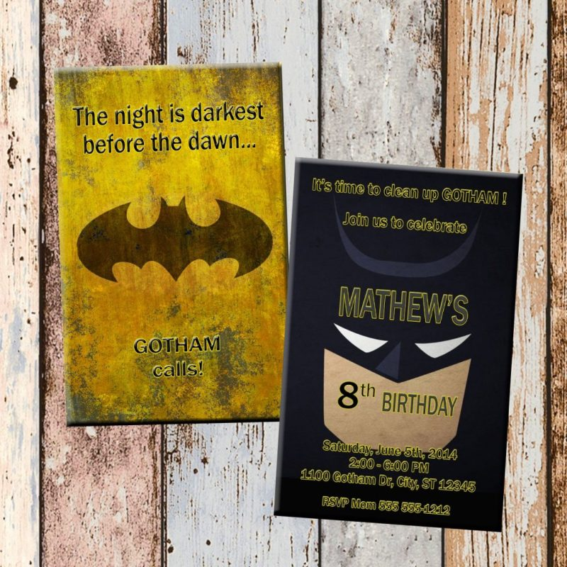 batman superhero personalized birthday invitation 2 sided birthday card party invitation superhero party dc party from scg designs