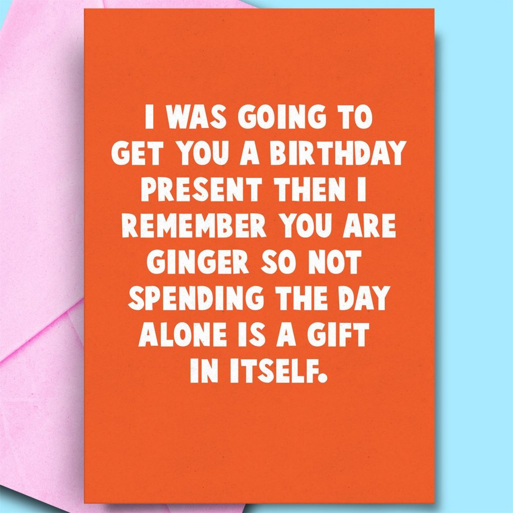 details about funny birthday card for gingers happy birthday cards ginger hair friend brother