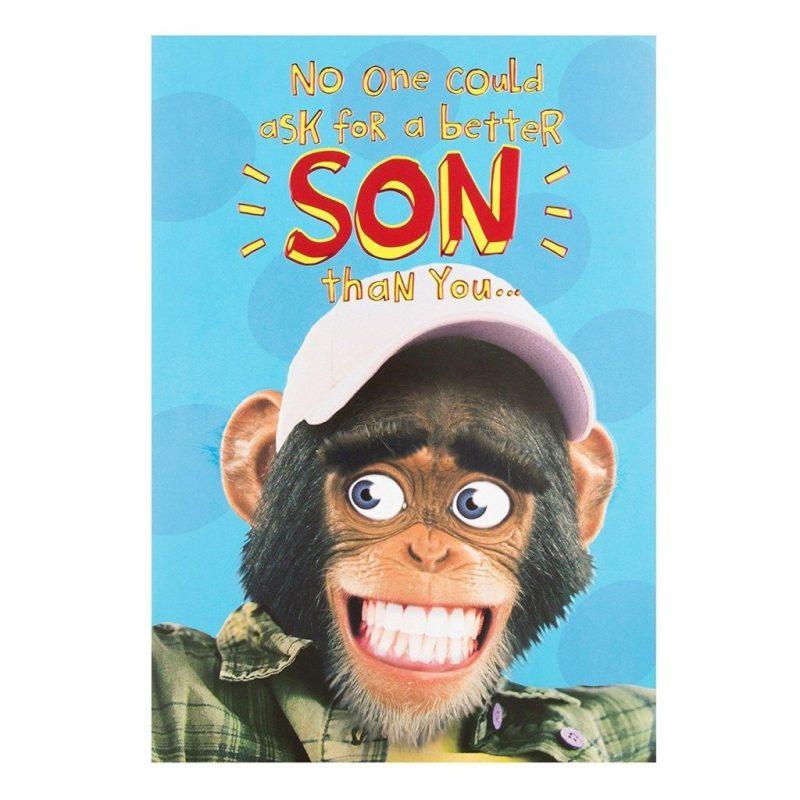 hallmark son birthday card monkey medium