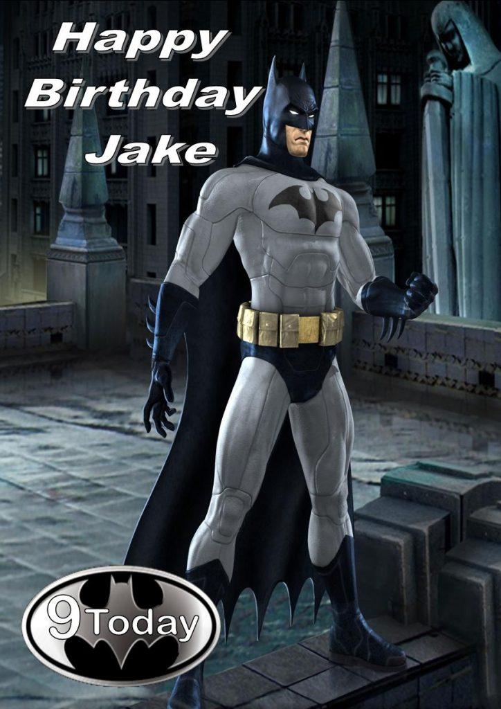 personalised batman birthday card