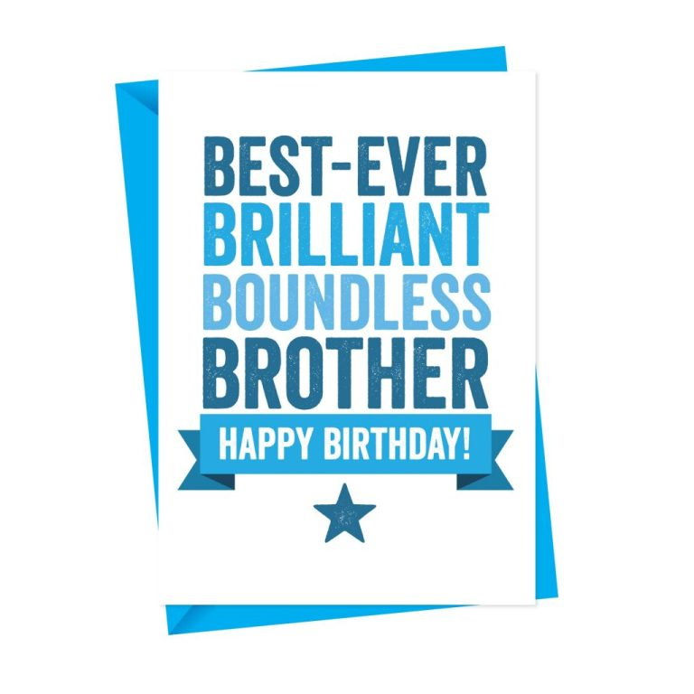 personalised birthday card for brother