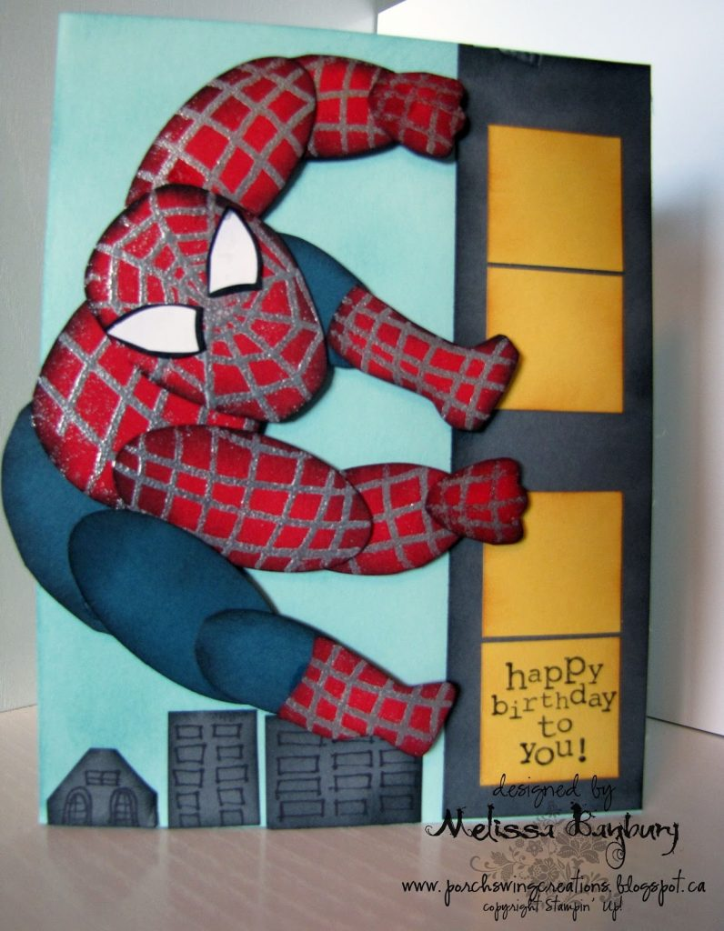 porch swing creations spiderman birthday