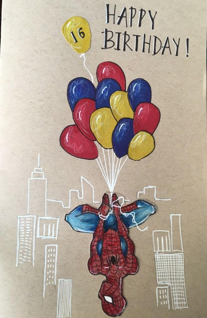 spider man birthday card birthday cards handmade bday