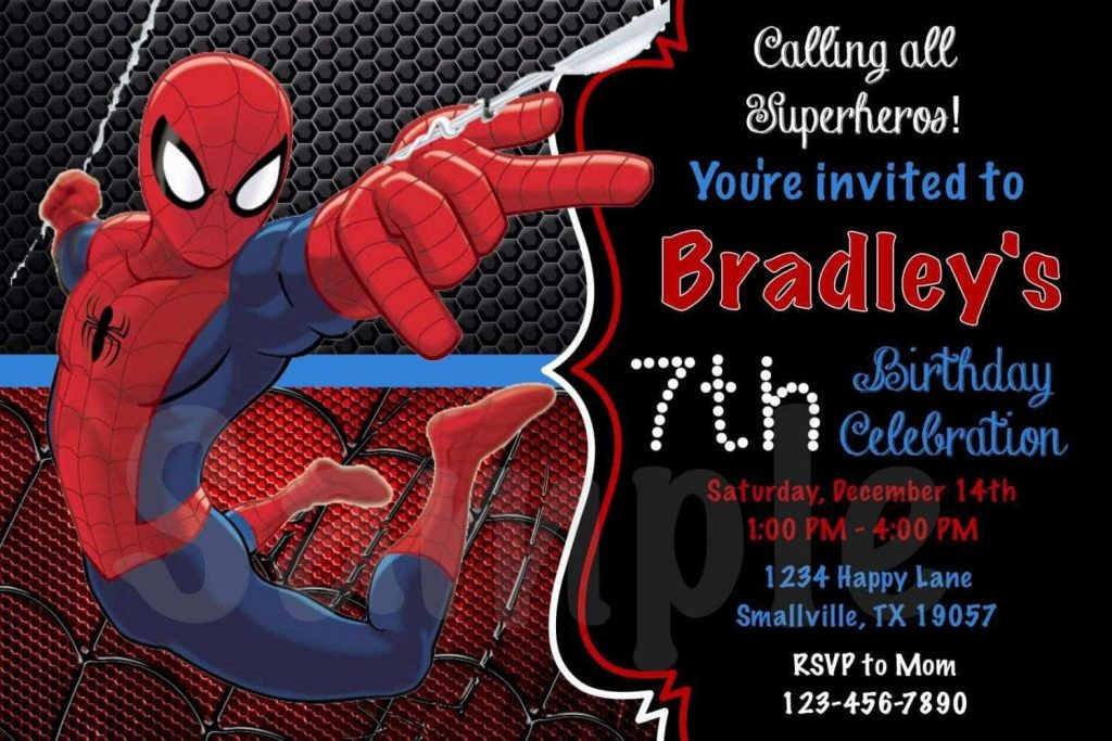 spiderman birthday invitations egreeting ecards