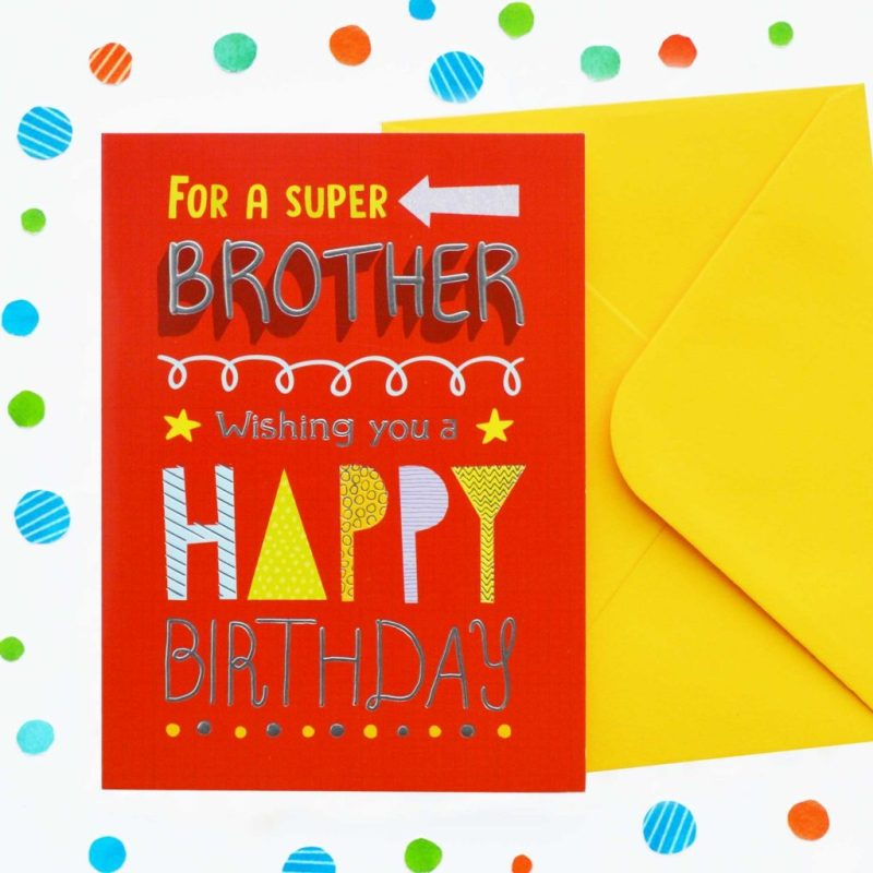 super brother birthday card