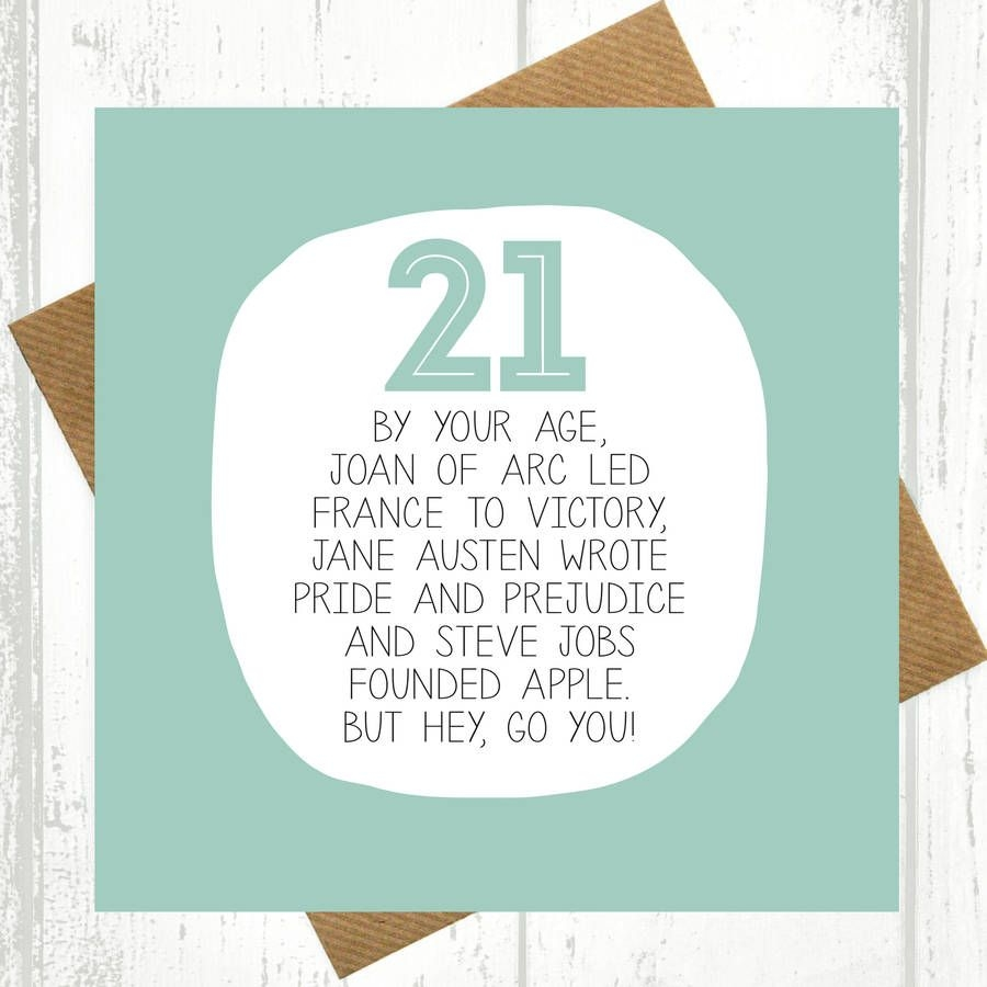 your age funny 21st birthday card 21st birthday cards