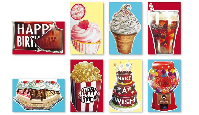 assorted handmade embellished scratch n sniff birthday cards box set 8 pack birthday cards bulk bday card assortment