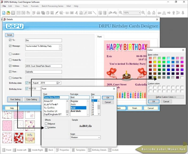 birthday card maker design printable free create kids happy