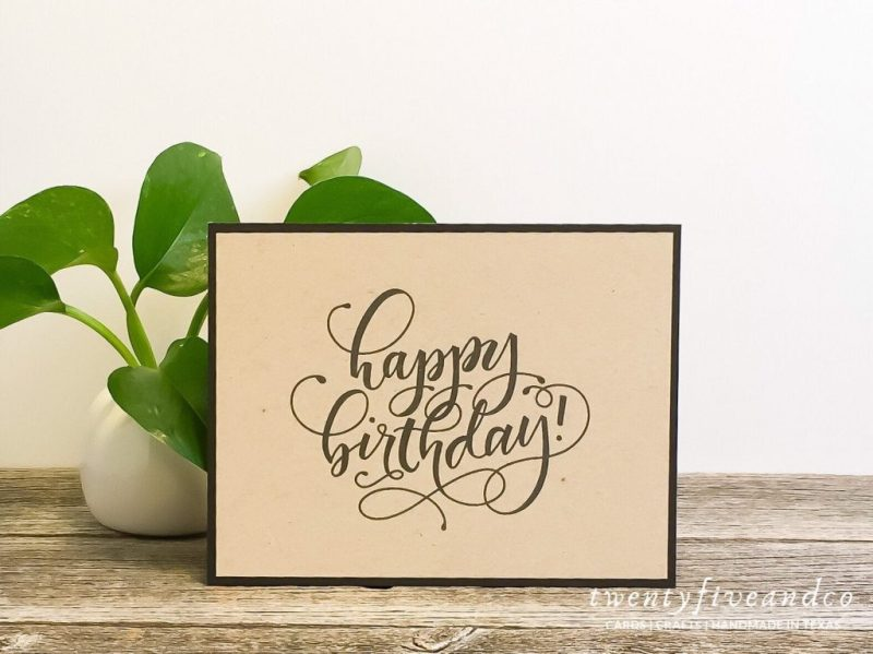black and kraft birthday cards bulk birthday cards set