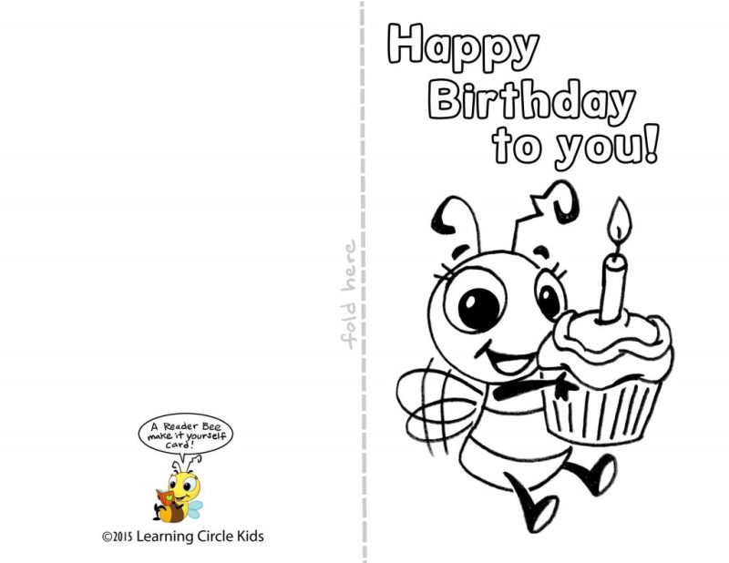 coloring 46 outstanding print out birthday cards for