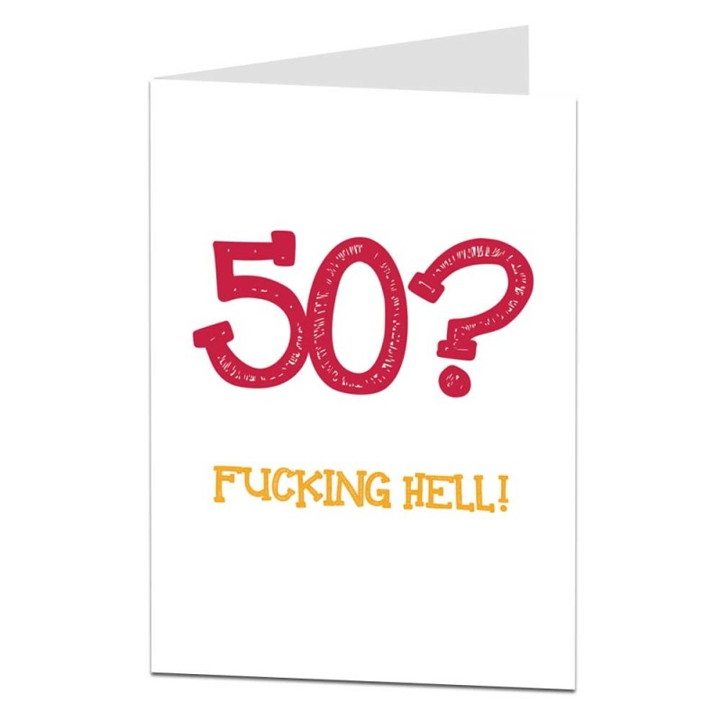 funny 50th birthday card for him her