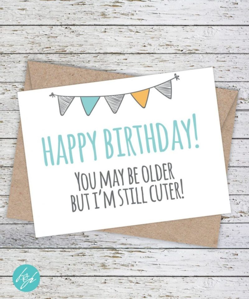 funny birthday card flairandpaper on etsy sister