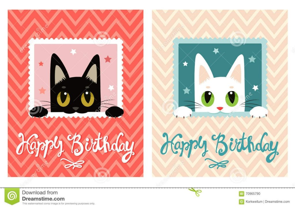 happy birthday card happy birthday card with cute cat