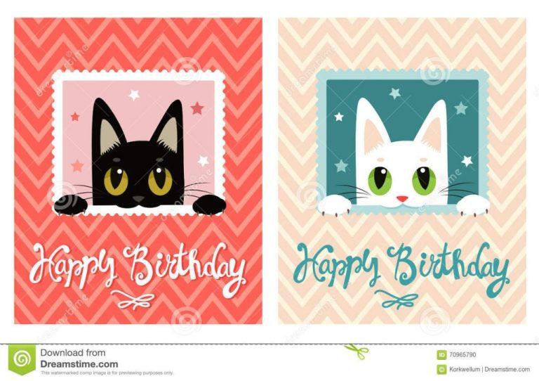 happy birthday card happy birthday card with cute cat