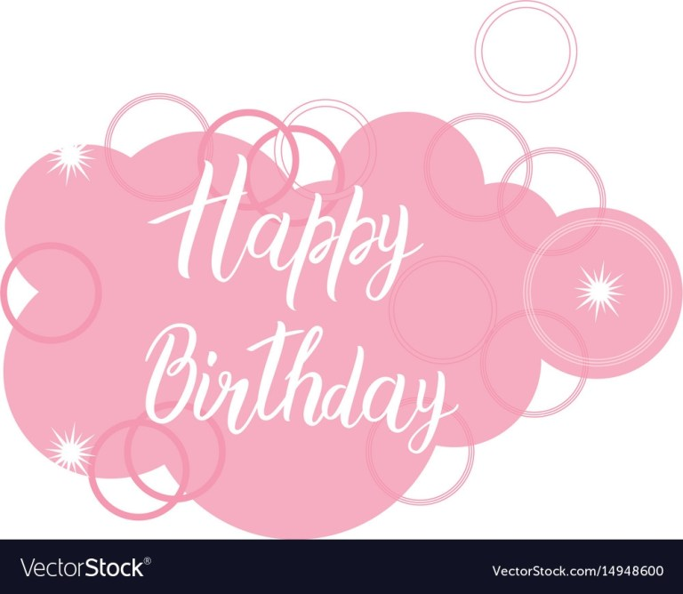 happy birthday card text over pink cloud original