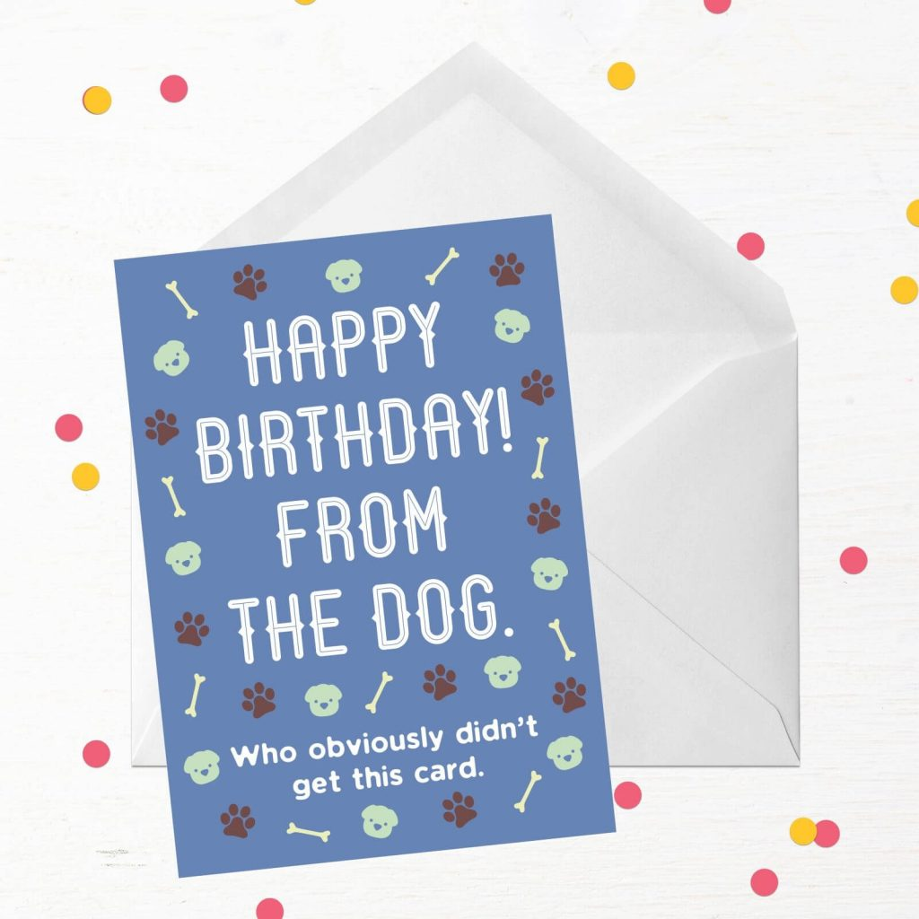 happy birthday from the dog greetings card