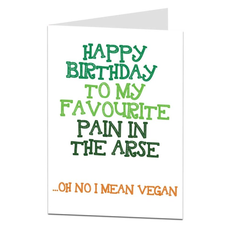 happy birthday to my favourite vegetarian birthday card