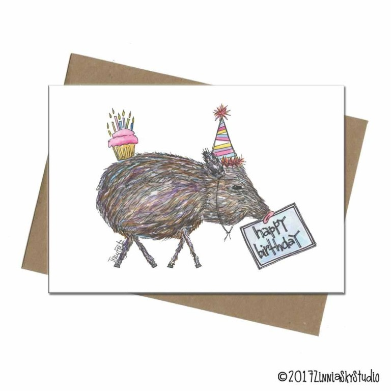 javelina funny hat birthday card