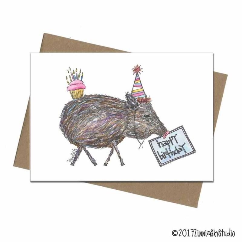 javelina funny hat birthday card
