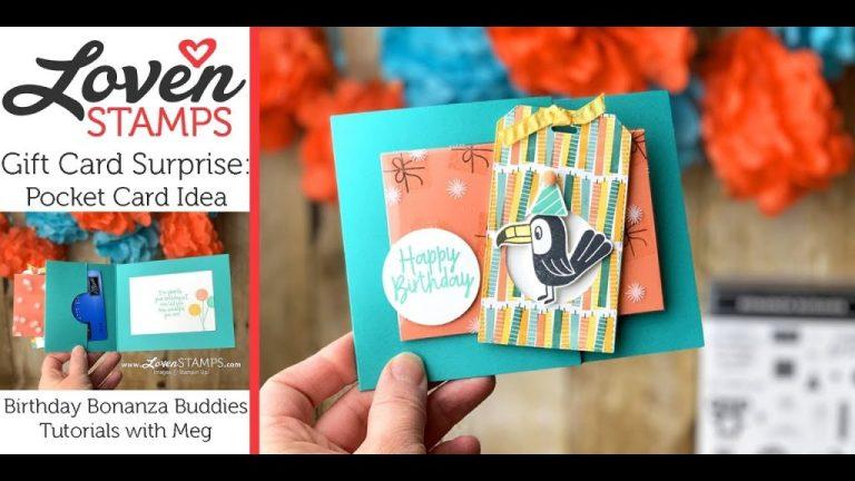 make your own birthday greeting pocket gift card holder