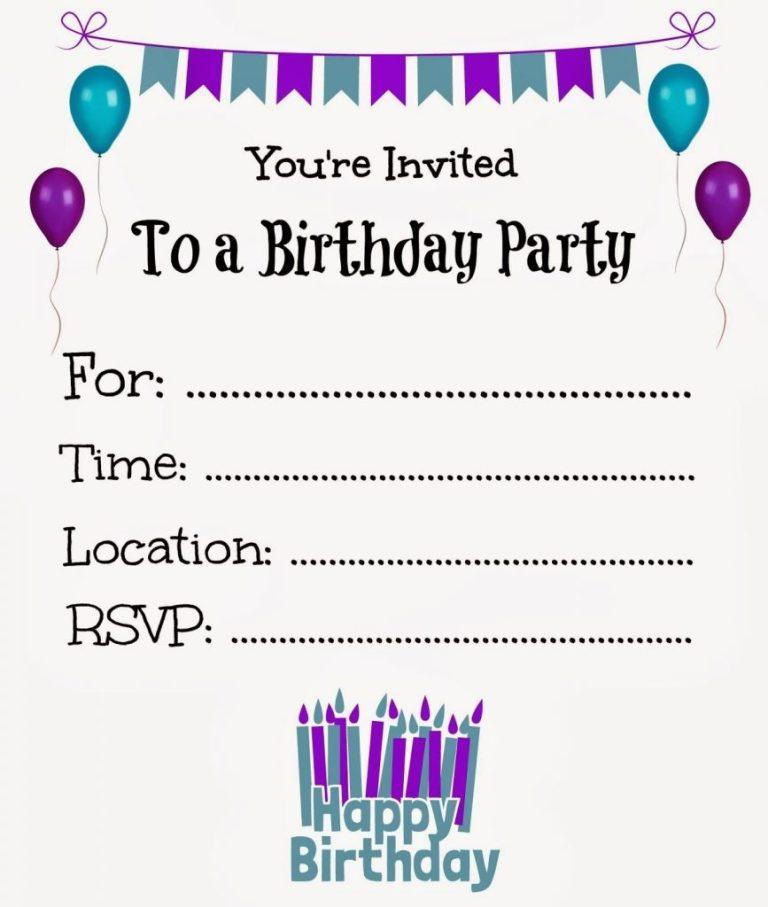make your own birthday invitations free printable hoyuk