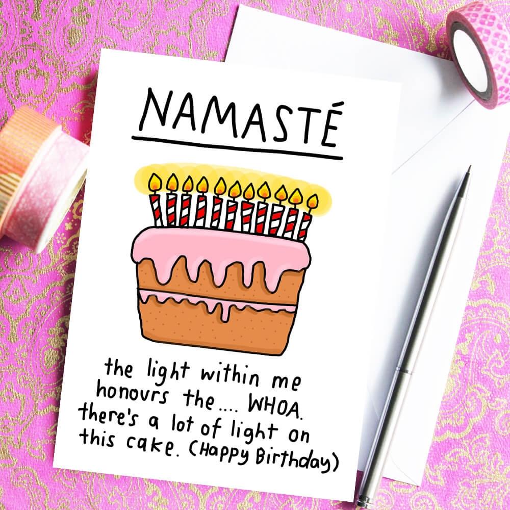 namast birthday card