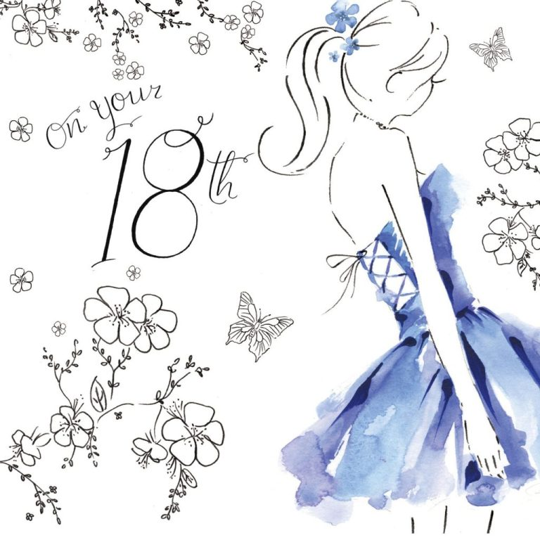 nes13 18th birthday card for her