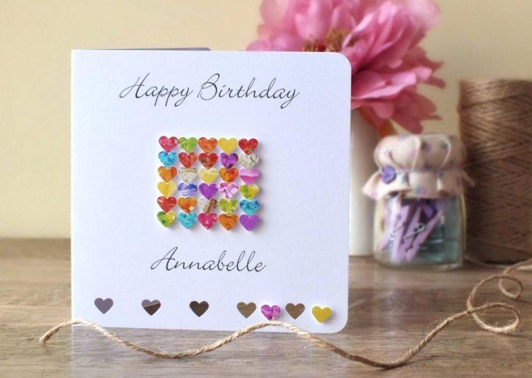 personalised birthday card handmade personalized happy