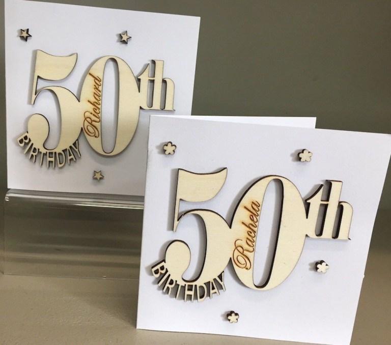 personalised keepsake special 50th birthday card