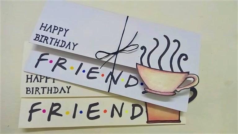 simple birthday card for friends friends diy