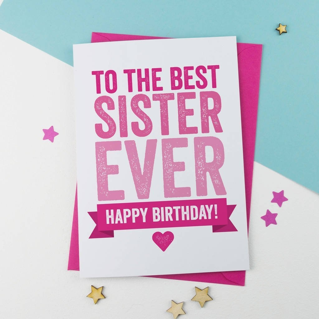sister birthday card birthday card greetings card unique card