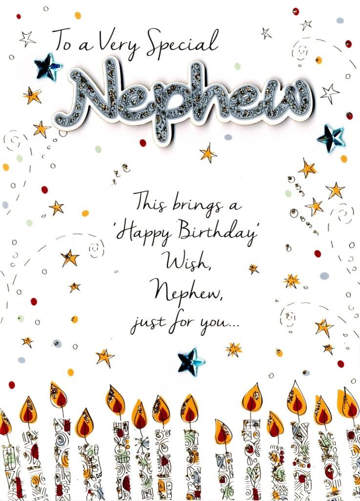 special nephew birthday greeting card