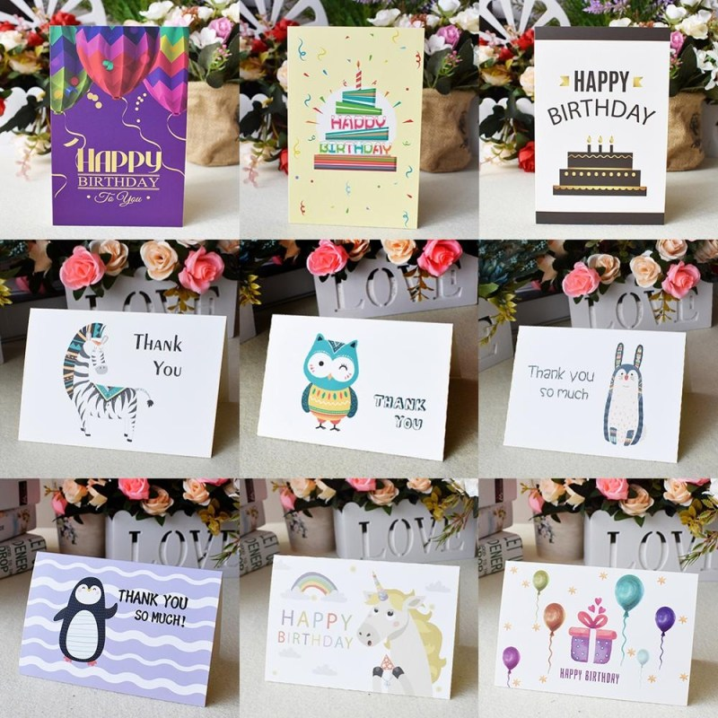us 269 custom thank you cards bulk birthday card for kids note cards with envelopes invitations blank inside greeting cards 6x4 cardscards