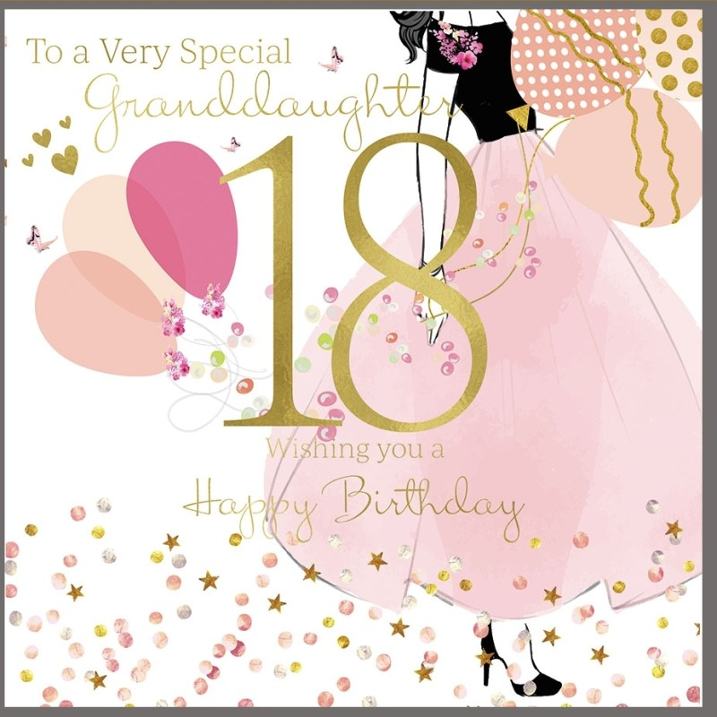 18th birthday card for a very special granddaughter