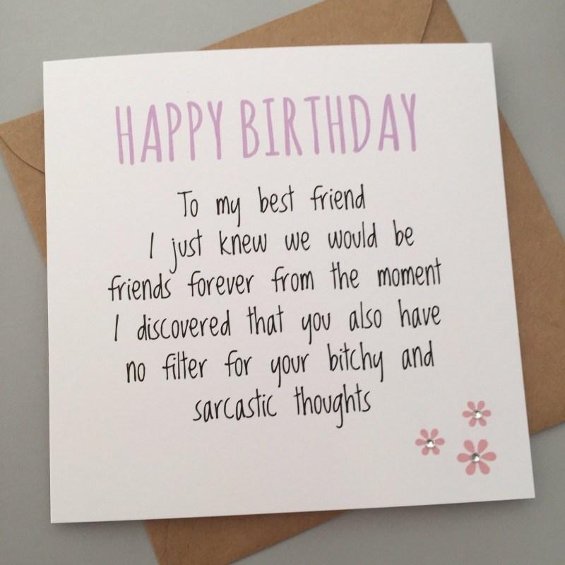 249 gbp funny best friend birthday card bestie humour