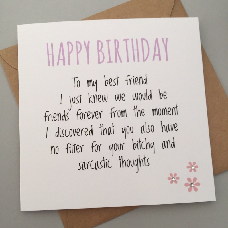 249 gbp funny best friend birthday card bestie humour