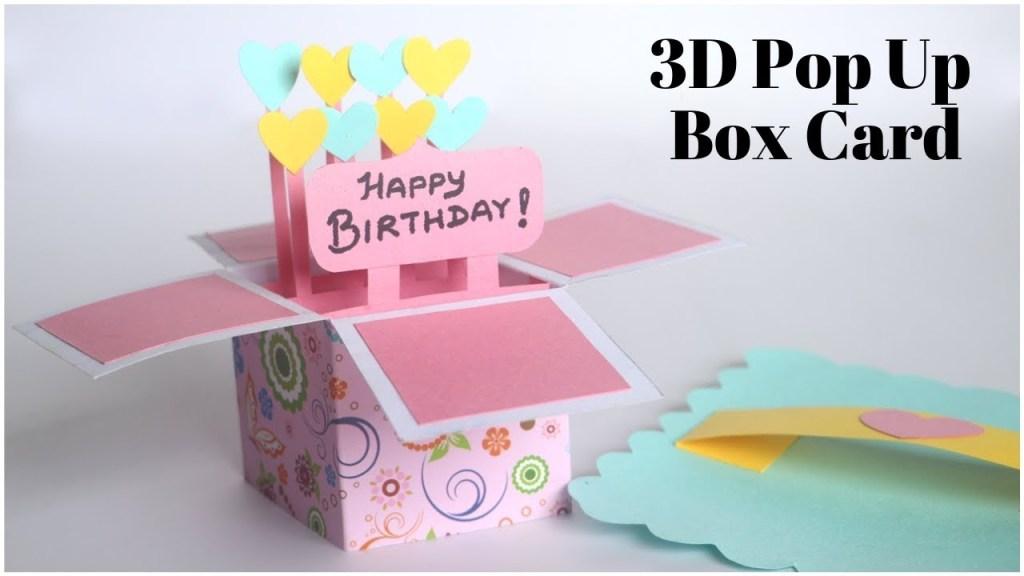 3d pop up card birthday card diy explosion box for scrapbook handmade greetings card